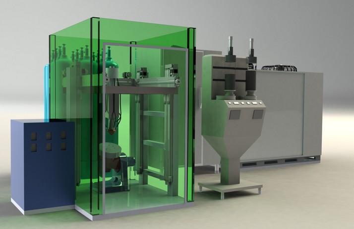 Оборудование лазерного напыления металла